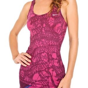 Nike dri fit mixed method racer back tank top